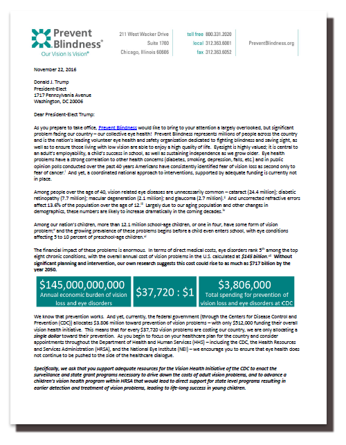 Trump Transition Team Letter