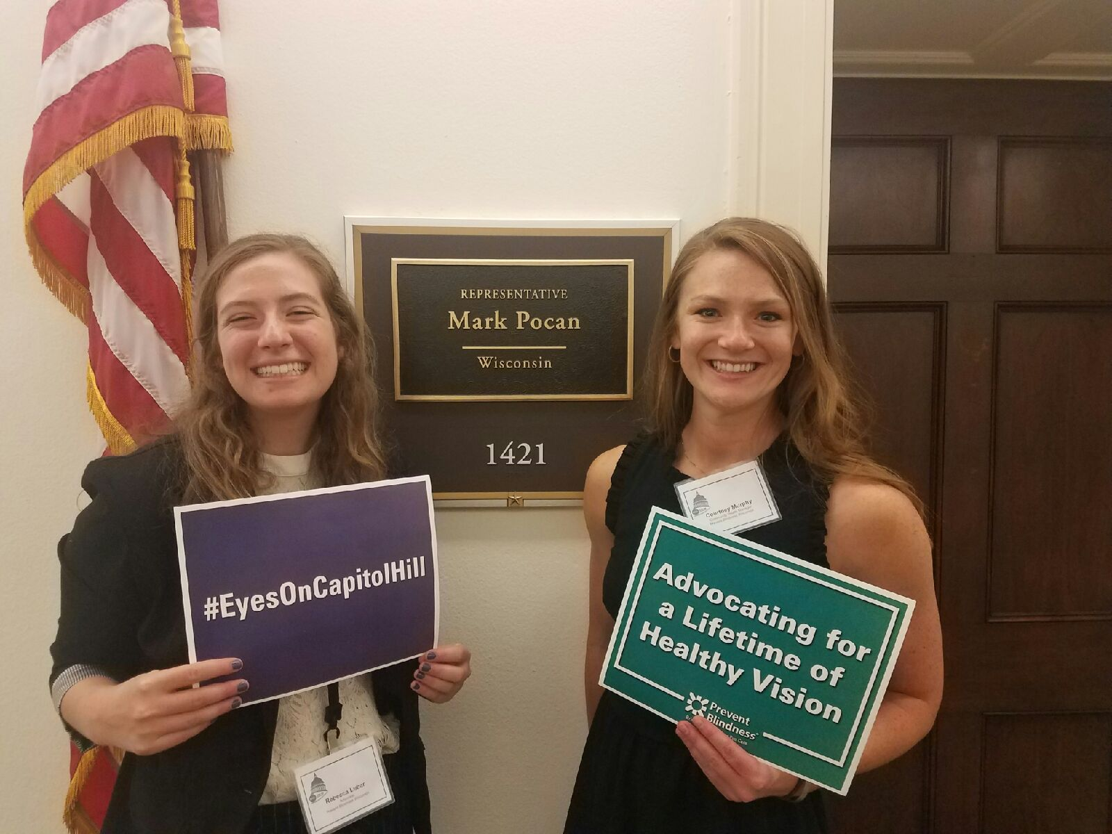 Rebecca and Courtney Eyes on Capitol Hill
