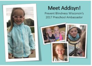 Addisyn Preschool Vision Screening Ambassador