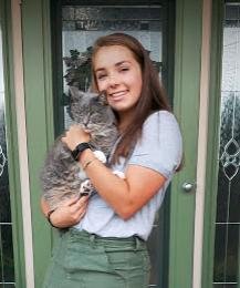 Elyse & cat